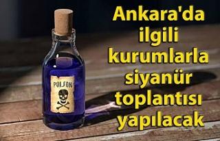 Ankara'da ilgili kurumlarla siyanür toplantısı...