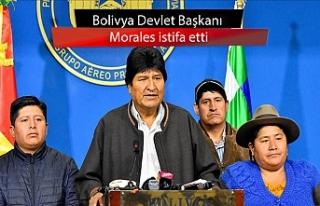 Bolivya Devlet Başkanı Morales istifa etti