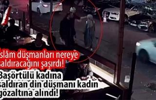 İstanbul'da başörtülü kadına saldırı...