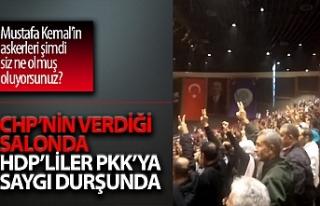 İstanbul'da HDP kongresinde teröristler için...
