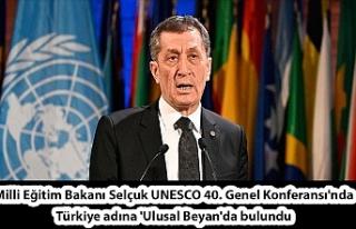 Milli Eğitim Bakanı Selçuk UNESCO 40. Genel Konferansı'nda...