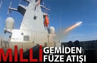 Milli seyir füzesi ATMACA'nın fırlatıldığı...
