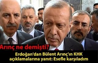 Son dakika: Erdoğan'dan Bülent Arınç'ın...