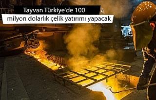 Tayvan Türkiye'de 100 milyon dolarlık çelik...