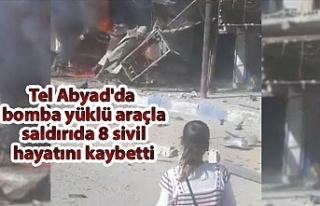 Tel Abyad'da bomba yüklü araçla saldırıda...