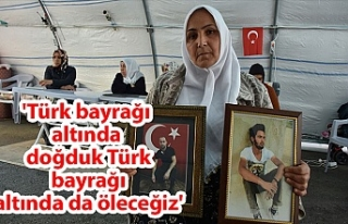 'Türk bayrağı altında doğduk Türk bayrağı...
