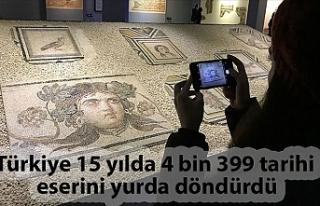 Türkiye 15 yılda 4 bin 399 tarihi eserini yurda...