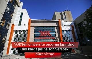 YÖK'ten üniversite programlarındaki isim kargaşasına...