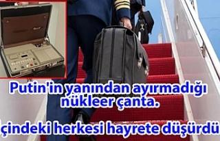 Putin'in yanından ayırmadığı nükleer çantası...