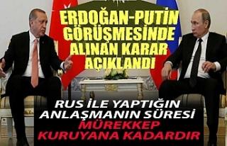 Erdoğan-Putin görüşmesinde alınan karar açıklandı
