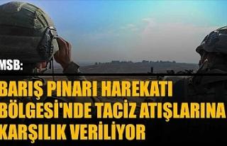 MSB: Barış Pınarı Harekatı Bölgesi'nde...
