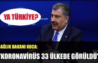 """Sağlık Bakanı Koca:"""" Koronavirüs 33 ülkede..."""