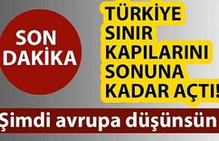 Türkiye Suriyeli mülteciler için sınır kapılarını...