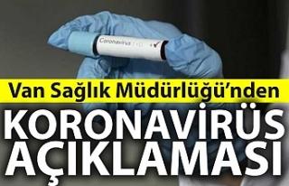 Van Sağlık Müdürlüğü'nden koronavirüs...