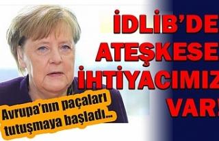 Almanya Başbakanı Merkel: İdlib'de ateşkese...