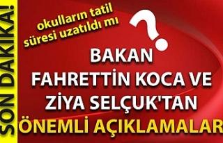 Bakan Fahrettin Koca ve Ziya Selçuk'tan önemli...