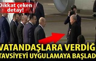 Başkan Erdoğan vatandaşlara verdiği tavsiyeyi...