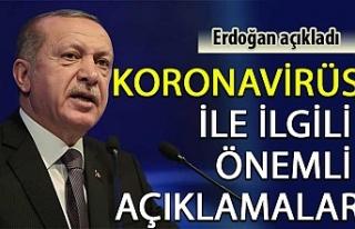 Cumhurbaşkanı Erdoğan: Koronavirüs ile ilgili...