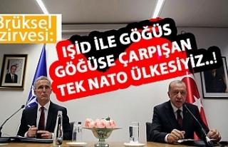 Erdoğan: IŞİD ile göğüs göğüse çarpışan...