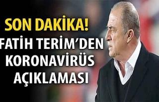 Fatih Terim, koronavirüs olduğunu açıkladı