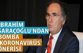 İbrahim Saraçoğlu'ndan bomba 'koronavirüs'...