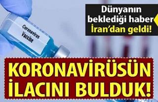İran koronavirüsün ilacını bulduğunu açıkladı!