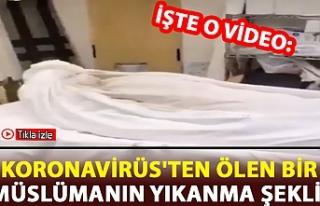 Koronavirüs'ten dolayı ölen bir müslümanın...