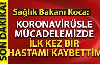 Sağlık Bakanı Koca: Koronavirüsle mücadelemizde...