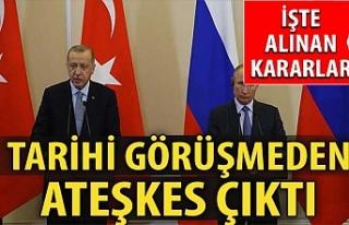 Tarihi zirve sonrası Erdoğan ve Putin tek tek açıkladı!...