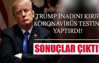 Trump inadını kırıp koronavirüs testini yaptırdı!...
