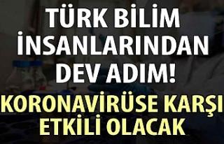 Türk bilim insanlarından dev adım! Koronavirüse...