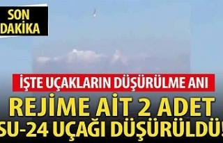 Türk F-16'ları 2 tane Su-24 Rejim uçağını...