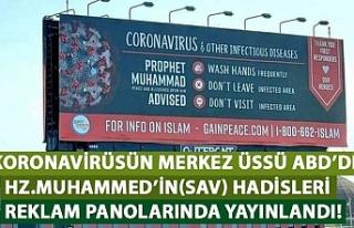 ABD'de koronavirüse karşı Hz. Muhammed(sav)'in...