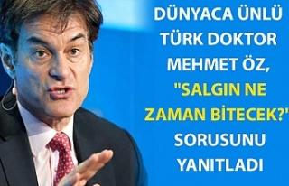 """Dünyaca ünlü Türk doktor Mehmet Öz, """"Salgın..."""