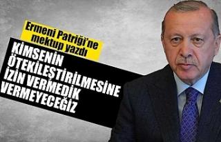 Erdoğan'dan, Türkiye Ermenileri Patriği Maşalyan'a...