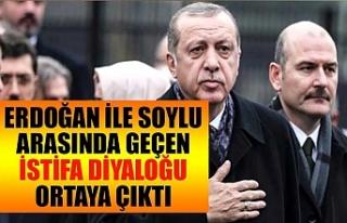 Erdoğan ile Soylu arasında geçen istifa diyaloğu...