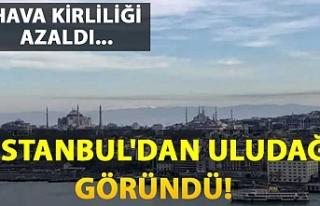 Hava kirliliği azaldı, İstanbul'dan Uludağ...