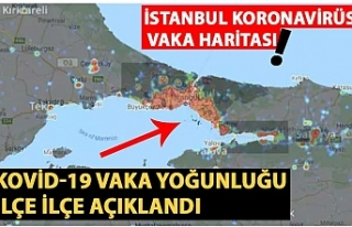 istanbul koronavirüs vaka haritası! kovid-19 vaka...