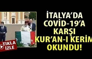 İtalya'da koronavirüse karşı Kur'an-ı...