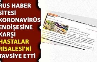Rus haber sitesi koronavirüs endişesine karşı...