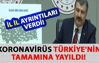 Sağlık Bakanı Fahrettin Koca, koronavirüsün Türkiye'nin...