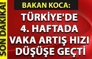 Sağlık Bakanı Koca: Türkiye'de 4. haftada...