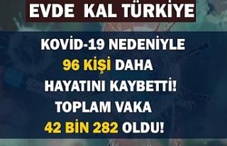 Sağlık Bakanlığı: Türkiye'de Kovid-19'dan...