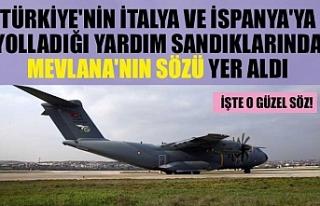 Türkiye'nin İtalya ve İspanya'ya yolladığı...