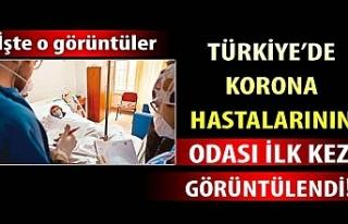 Türkiye'de korona hastalarının odası ilk kez...