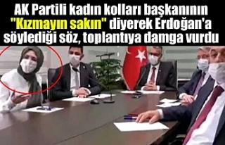 """AK Partili kadın kolları başkanının """"Kızmayın..."""