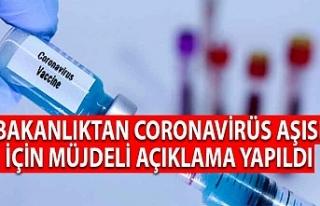 Bakanlıktan Coronavirüs Aşısı İçin Müjdeli...