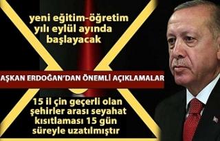 Cumhurbaşkanı Erdoğan: Bayramda 81 ilde sokağa...