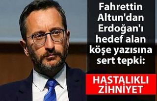 Fahrettin Altun'dan Erdoğan'ı hedef alan...