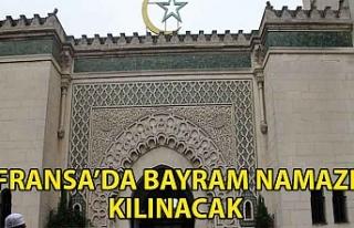 Fransa'da Bayram namazı camilerde kılınacak